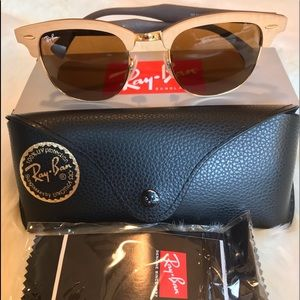 🕶Ray Ban Wooden Square frame clubmaster😎